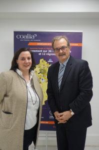 Emmanuelle Cosse, Présidente de Coallia Habitat, et Jean-François Carenco, Président de Coallia
